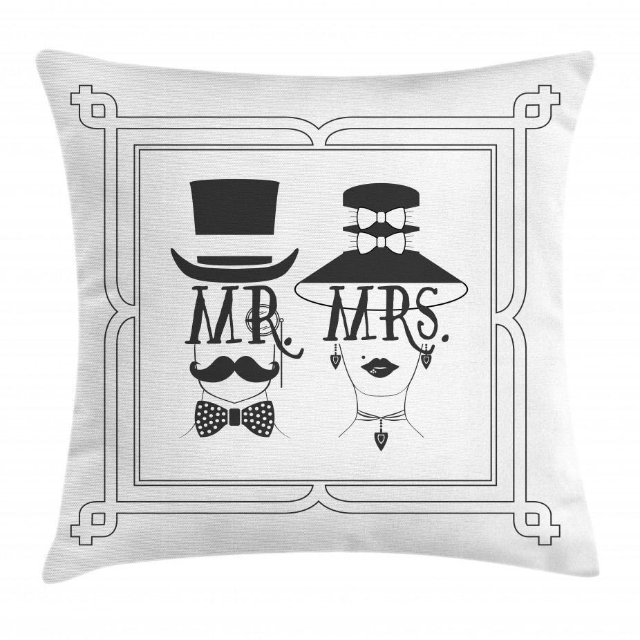Male and Female Concept Throw Pillow Cushion Cover