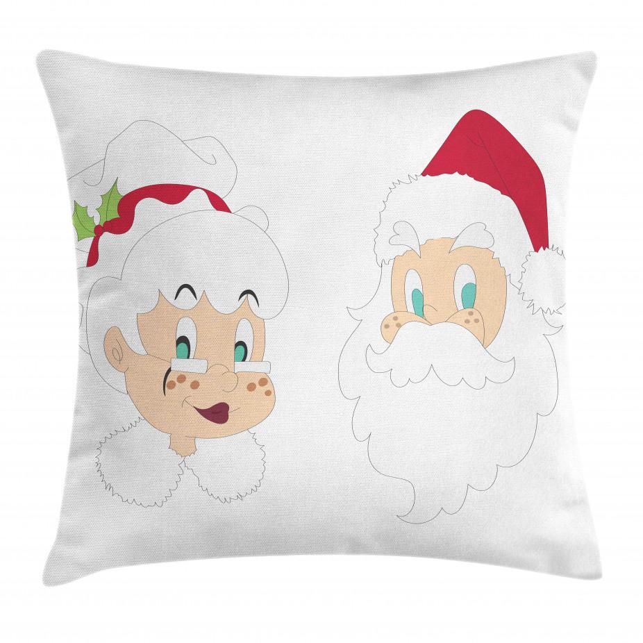 North Pole Santa Claus Throw Pillow Cushion Cover