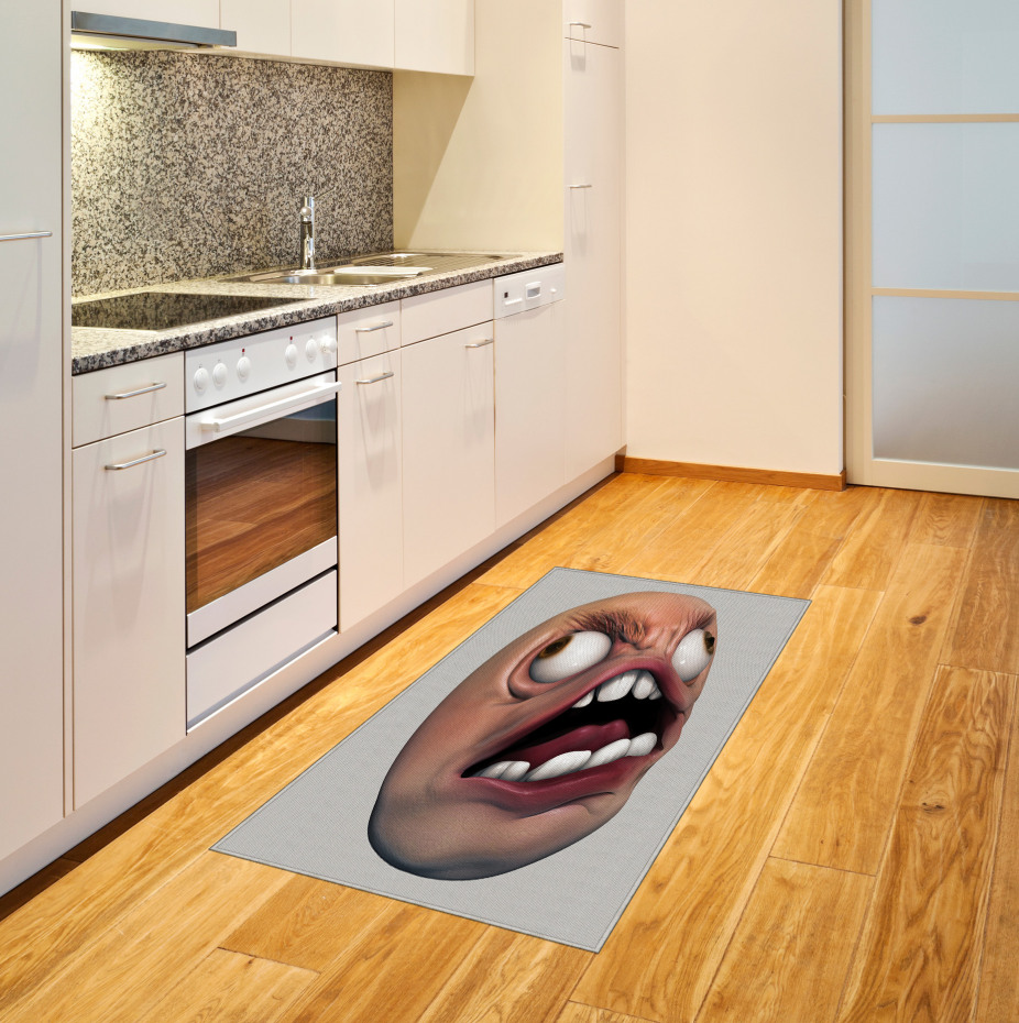 Angry Rage Meme Guy Fun Area Rug