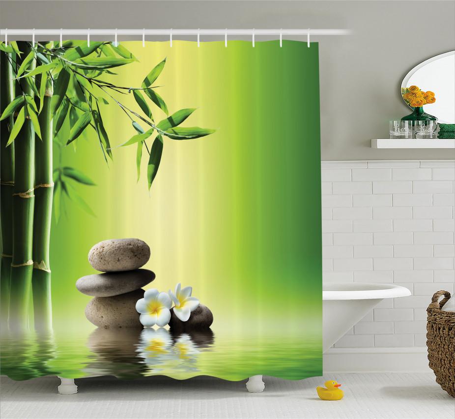 Japanische Frangipani-Blumen Duschvorhang