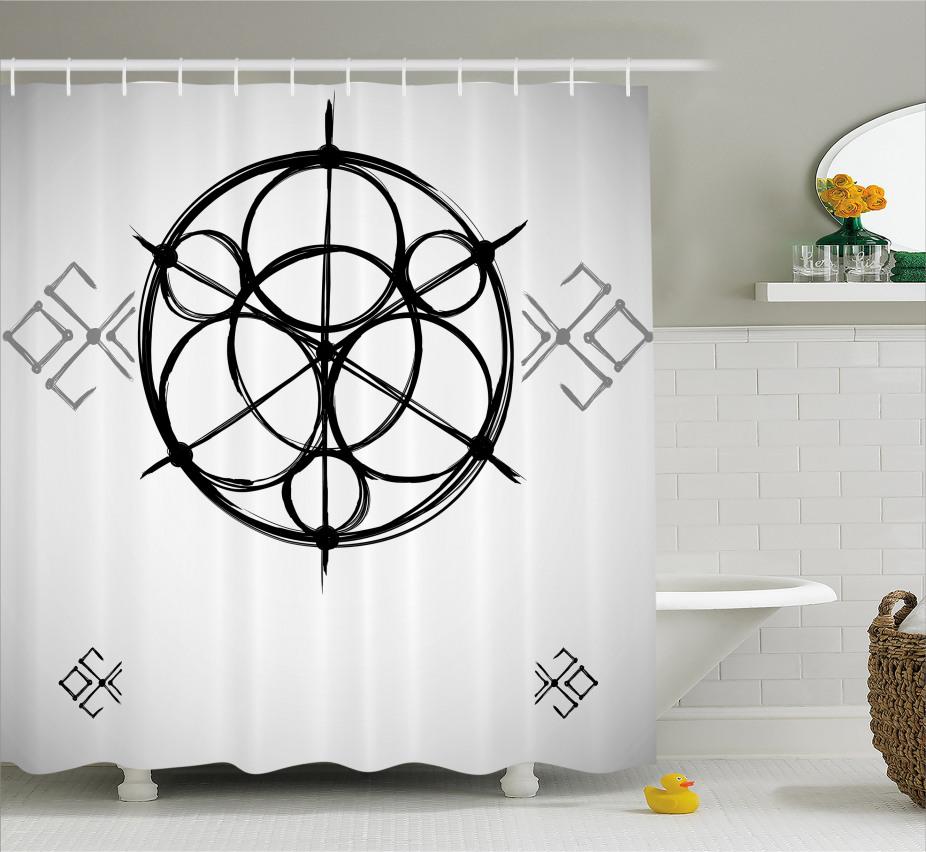 Abstrakte Kreise Duschvorhang