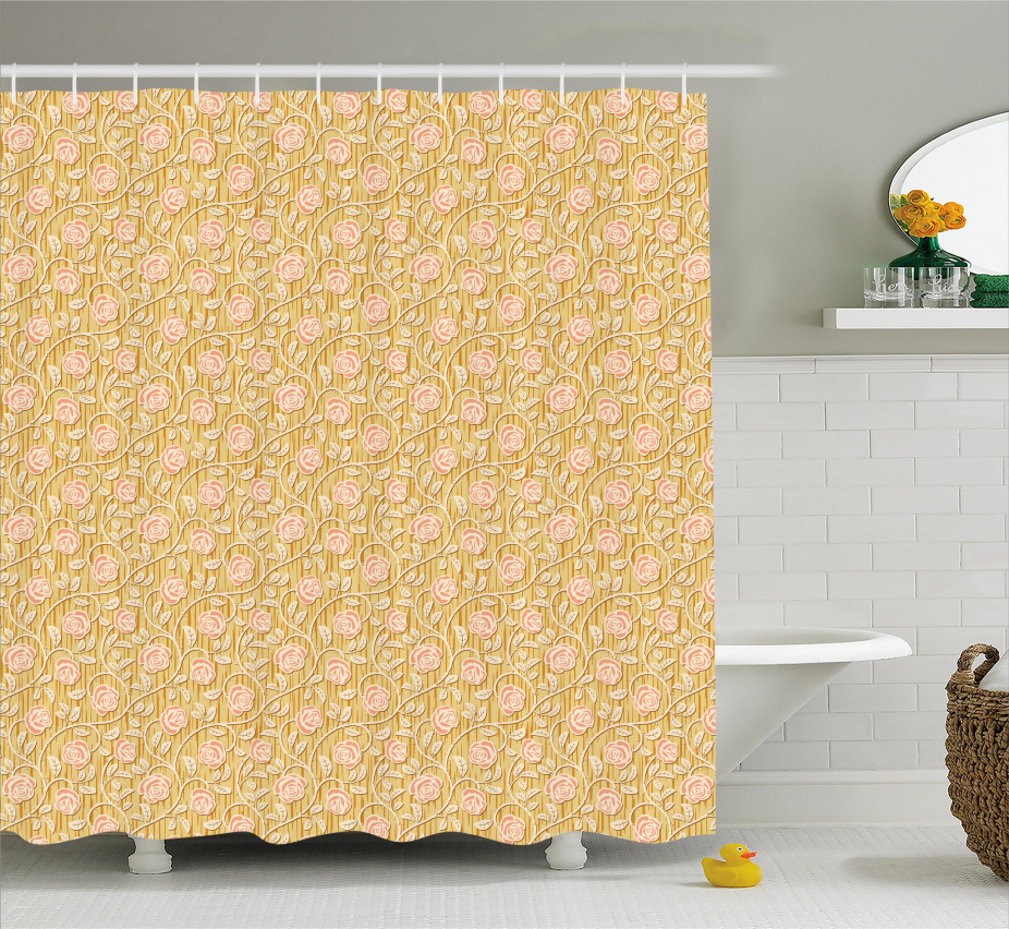 Romantisches Rosen-Blumenblatt Duschvorhang