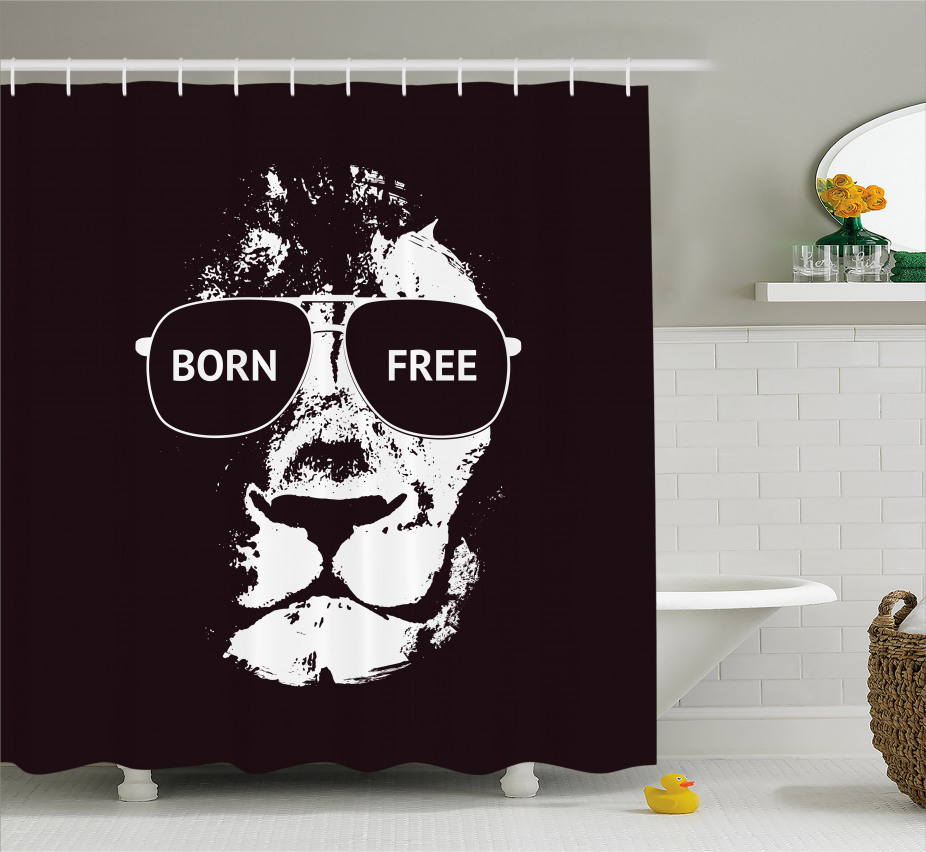 Afrikanische Löwengläser Duschvorhang