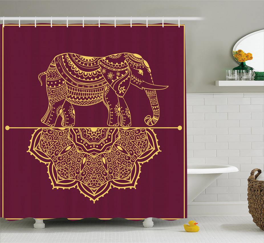 Afrikanische Tier Mandala Duschvorhang