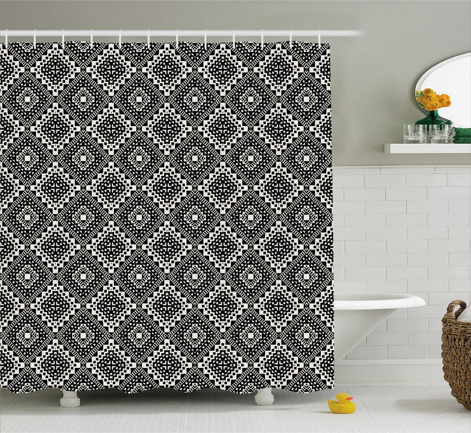 Tribal minimalistische Grafik Duschvorhang