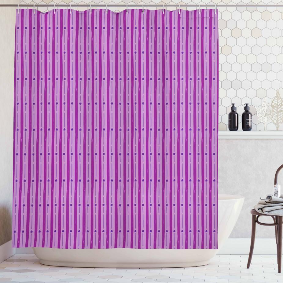 Purple Shaded Stripes Shower Curtain
