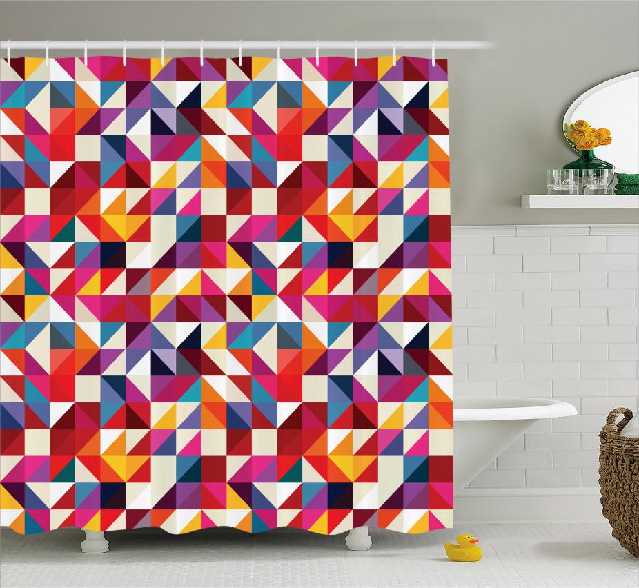 Bauhaus-Art-Muster Duschvorhang