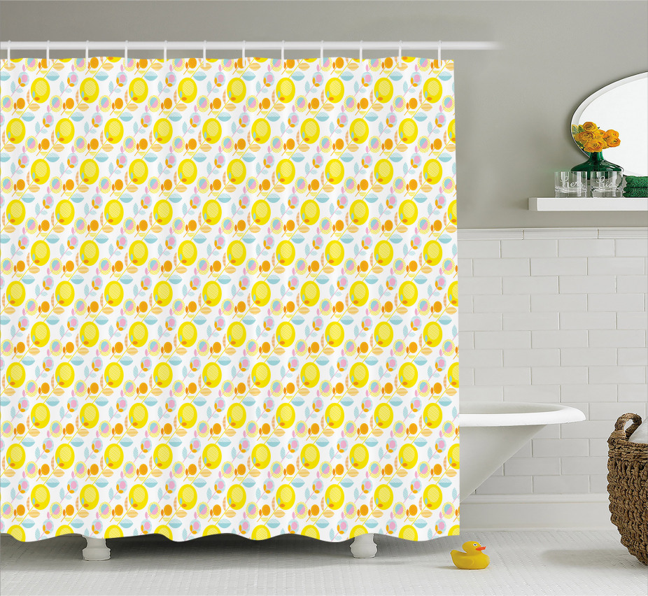 Abstract Summer Flowers Shower Curtain