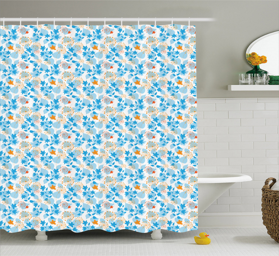 Dandelions and Leaves Shower Curtain