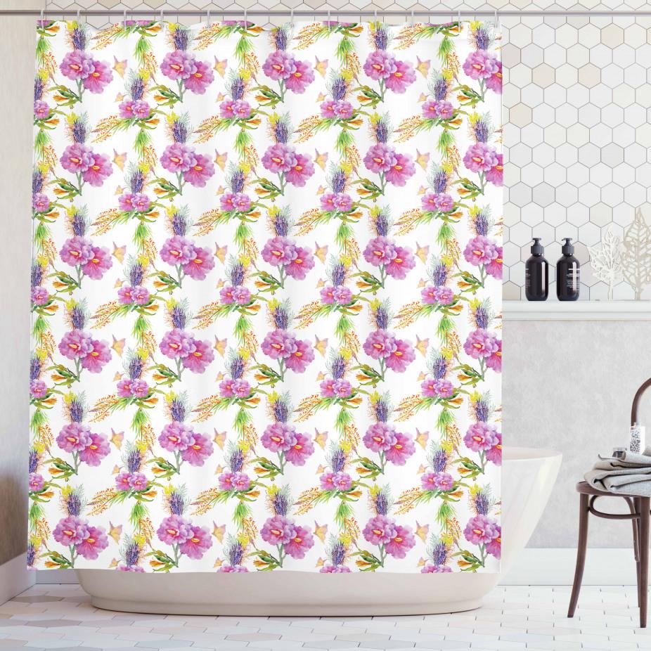 Lavendel und Pfingstrosen Duschvorhang