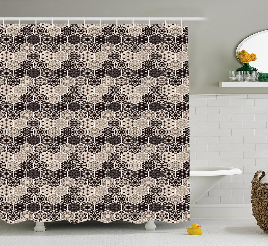 Hexagon Mosaik Bohemian Duschvorhang