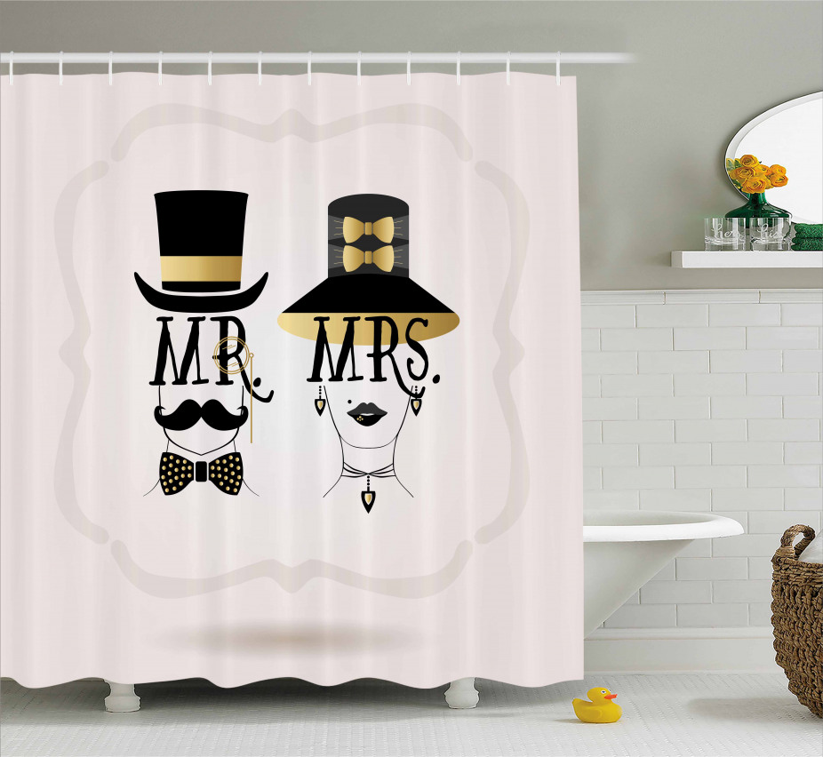 Man and Woman Design Shower Curtain