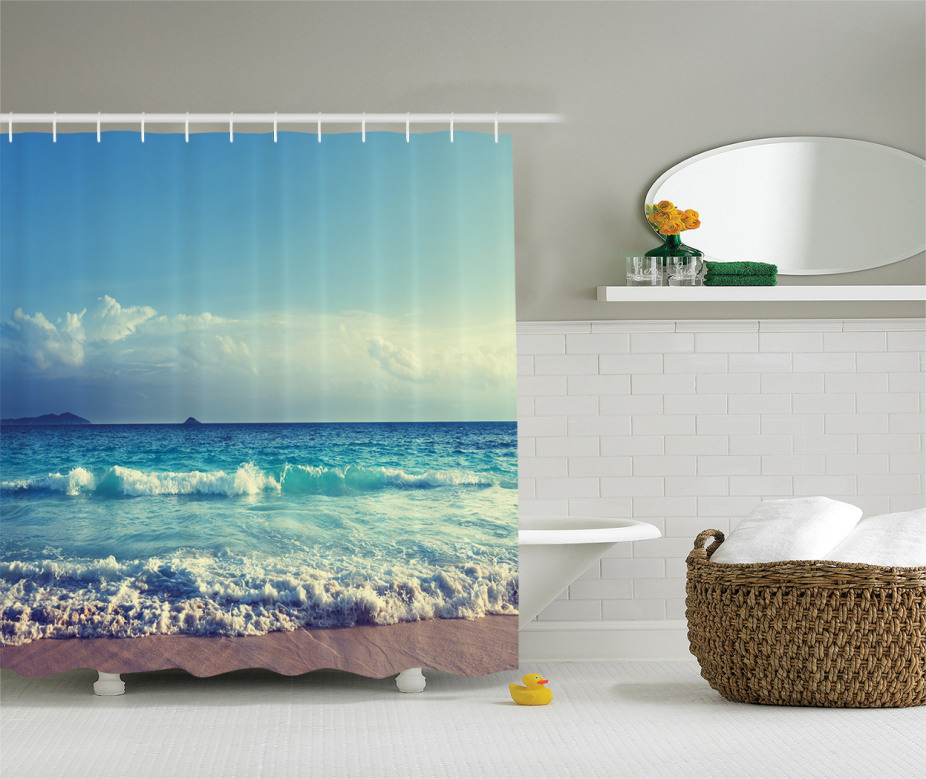 Ocean Seychelles Shower Curtain