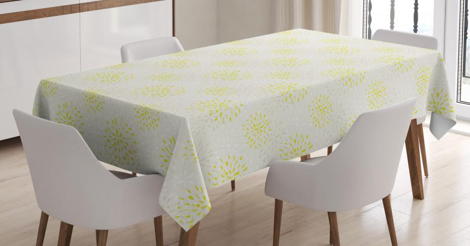 Chrysantheme und Dahlie Tischdecke