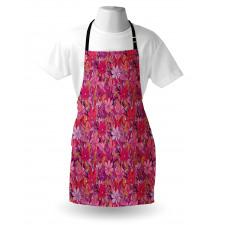 Bahar Mutfak Önlüğü Romantik Renkli Kır Papatyaları Çiçek Deseni