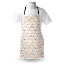 Bahar Mutfak Önlüğü Soft Görünümlü Zarif Kelebek Kanatları Çizimi