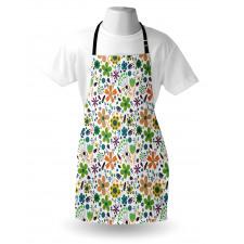 Bahar Mutfak Önlüğü Rengarenk Modern Çiçek Yaprak Dal Tasarımı