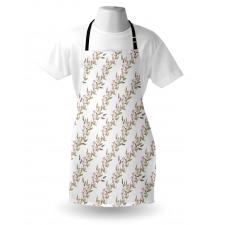 Bahar Mutfak Önlüğü Çapraz Şeritli Doğal Çan Çiçeği Motifleri