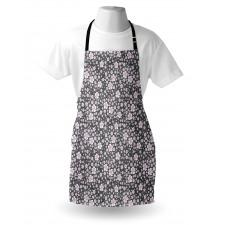 Bahar Mutfak Önlüğü Doğa Temalı Minik Pastel Renkli Çiçekler