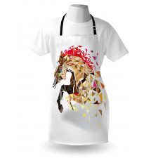 Abstract Art Wild Horse Apron