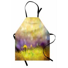 Bahar Mutfak Önlüğü Sarı Çiçek Desenli