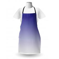 Mutfak Önlüğü Mavi Beyaz Desenli