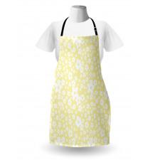 Bahar Mutfak Önlüğü Sarı Beyaz Çiçek Desenli