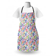 Bahar Mutfak Önlüğü Rengarenk Saydam Çiçek
