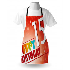 15th Birthday Concept Apron