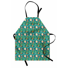 Bahar Mutfak Önlüğü Ferah Mevsimde Çiçeklerden Bal Yapan Arılar
