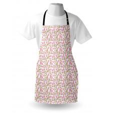 Bahar Mutfak Önlüğü Dallardan Sarkan Çiçekler Tekrarlı Desen