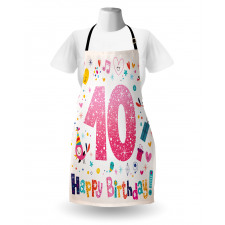 10 Years Kids Birthday Apron