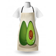 Avokado Mutfak Önlüğü İçindeki Çekirdeği Parlayan Sağlıklı Meyve