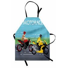2 Bikers Racing Apron