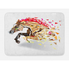Abstract Art Wild Horse Bath Mat