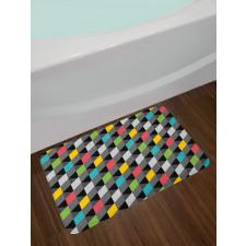 Abstract Art Style Bath Mat