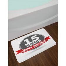 15 Emblem Bath Mat