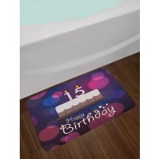 15 Birthday Cake Bath Mat