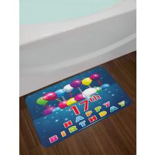 17 Birthday Bath Mat
