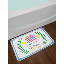 18 Birthday Bath Mat