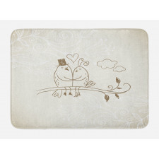 2 Birds Love Bath Mat