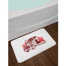 18 Wheeler Silhouette Bath Mat