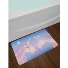 2 Akhal Teke Unicorns Bath Mat