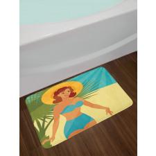 1950s Style Bikini Bath Mat