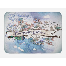 10 Years Floral Art Bath Mat