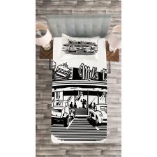 Nostalgic Retro Car Bedspread Set