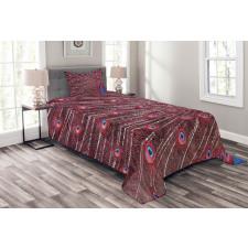 Peacock Bird Surreal Bedspread Set