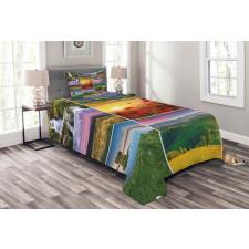 Summer Home Landscape Bedspread Set