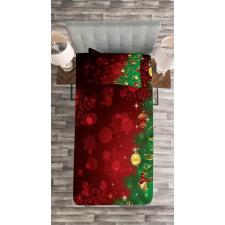 Jingle Bells Trees Bedspread Set