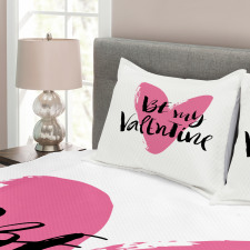 Heart Love Image Bedspread Set